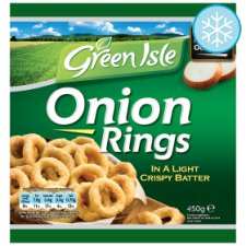 Green Isle Onion Rings in a Light Crispy Batter 450g